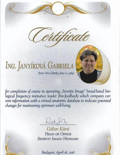 Certifikát 1 Janyíková