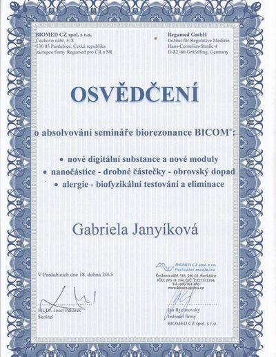 Certifikát 2 Janyíková