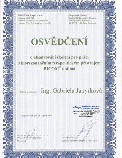 Certifikát 5 Janyíková