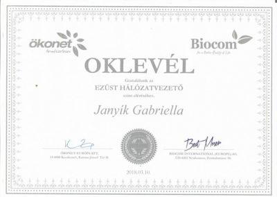 Certifikát 9 Janyíková